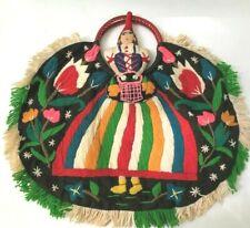 Wonderful vintage large embroidered Portugal tote bag purse shopper