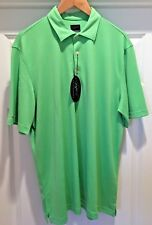 Greg Norman PlayDry Technical Performance Golf Polo Shirt Green Size Large NWT