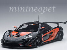 AUTOart 81543 McLAREN P1 GTR 1/18 MODEL DARK GREY METALLIC with ORANGE ACCENTS