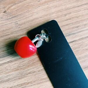 Pilgrim Danish Design Red Apple Fruit Charm