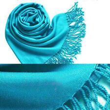 Pashmina Cashmere Silk Solid Shawl Wrap Unisex Long Range Scarf