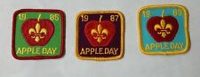 Scouts Canada- Apple Day 1985, 1987 and 1989 Badge/Patch