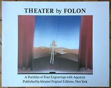 Folon Jean-Michel affiche originale surréalisme Theater by Folon Abrams New-York