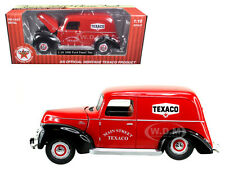 """1940 FORD PANEL VAN """"TEXACO"""" RED 1/18 DIECAST MODEL BY BEYOND THE INFINITY 0606"""