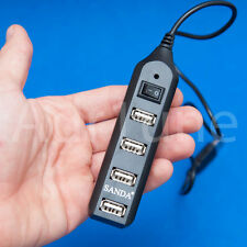 Ladron HUB 4 puertos USB 2.0 con interruptor Splitter multiplicador portatil PC