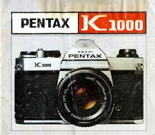 Pentax K1000 manuale in pdf su cd