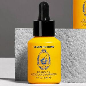 Seven Potions Beard Oil 30ml, Natural, Vegan, Organic, Cruelty Free - 3 Scents
