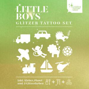 Glitzertattoo Kinderfest Little Boys Set 27 tlg Glitzer Tattoo Geschenke Set