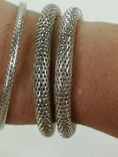 Silver coloured Metal  Bracelet / Bangles