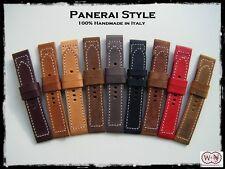 Cinturini artigianali in pelle per Panerai 24/22 - Panerai style Leather straps