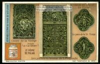 Milan Cathedral Architecture Detail Bronze Door 1920 Trade Ad  Card