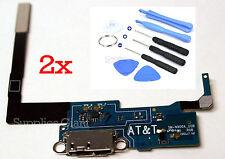 Samsung Galaxy Note 3 N900A AT&T USB Charging Port Flex Mic + Tools OEM lot 2