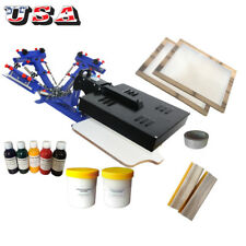 Screen Printing Machine & Materials Kit Start Hobby Hand Tools Ink Squeegee