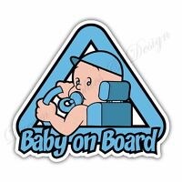 Baby on Board Full Color Adhesive Vinyl Sticker Window Car Bumper 05