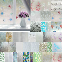 Frosted Privacy Glass Film Chic Home Door Window Flower Sticker Decor Xmas DIY