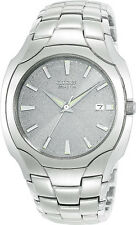 New! Authentic Mens CITIZEN Eco-Drive Watch Stainless Steel Bracelet BM6010-55A