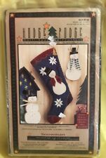 "Hodge Podge Quilt Appliqué Project SNOWMAN Art #HP140 Stocking 9""x17"" AS IS"