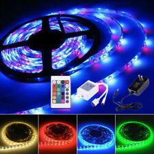 12V RGB Tira de luces LED 5050/5630SMD Adaptador Alimentación Hermosa Decoración