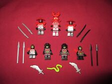 LEGO Ninjago Minifigures LOT,General Kozu 6  Foot Soldiers &  Weapons