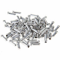 NEW 100 Pcs ALUMINUM BIKE BICYCLE SHIFTER BRAKE CABLE TIPS CAPS ENDS CRIMPS