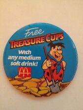 Fred Flintstone Pin Back Pin Mcdonalds 1986