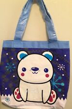 "Adorable Polar Bear shopping Tote Bag Sea World loungefly new w/tags 16""x16"""