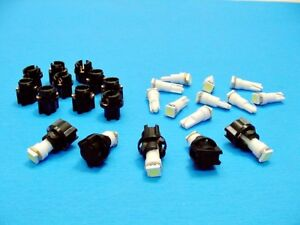 15 White LEDs Lights Bulbs 3/8 Sockets Instrument Panel Cluster Dash For Imports