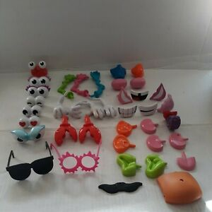 """Mr. Potato Head Lot Assorted 39 Pieces Accessories For 5.5"""" Bodies"""
