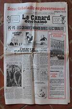 JOURNAL ANNIVERSAIRE LE CANARD ENCHAINE ACTUALITE SATIRIQUE DU 6 OCTOBRE 1982
