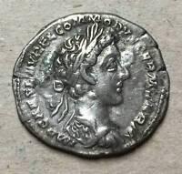 silver coin denarius Commodus Roman Emperor RARE COIN, GOOD CONDITION