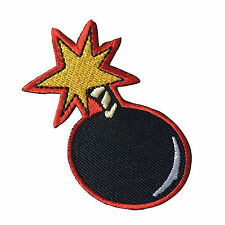 Embroidered Cartoon Comic Lit Fuse Bomb Sew or Iron on Patch Biker Patch