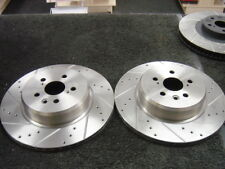 TOYOTA CELICA GT4 ST205  BRAKE DISCS  REAR CROSS DRILLED GROOVED