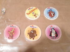 POGS TWINKIES, DING DONG, CUPCAKE , HOSTESS CHARACTERS COMPLETE SET of 5