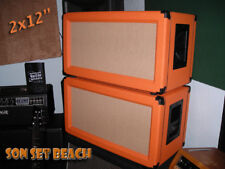 "SONSETBEACH ORANGE 2x12"" Custom Speaker Cab NEW**  Un-Loaded"