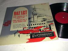 MOZART Conc 24 & 27 BADURA-SKODA Prohaska MONO WESTMINSTER LP VG++