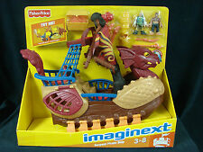 Fisher Price Imaginext Serpent Pirate Ship w/DVD Castle Playset NEW Retired 2010