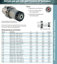 Techniks HSK63 ER20 CNC Precision ER Toolholders 31446