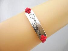 Hot 1D One Direction Retro Silver Fashion Charms Faux Suede Bracelet Select