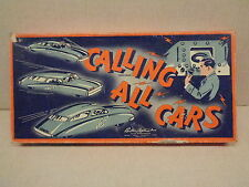 CALLING ALL CARS POLICE THEME BOARD GAME, PARKER BROTHERS, 1937,VGC, COPS, L@@K!