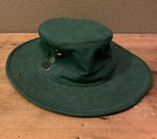 Tilley Endurables Men's Hat Olive Green Size 7 1/8 Drawstring
