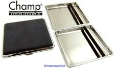 Cigarette Case -- Champ Leatherette Blue 20 King Size -- NEW chks22