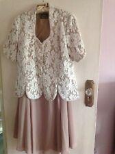 Gina Bacconi occasion/evening/wedding Suit, Size 16 latte/ivory