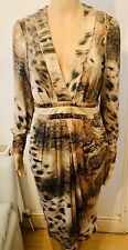 JUST CAVALLI By Roberto Cavalli Animal Print Dress In Size Eu 40, Small In VGC