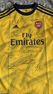 Arsenal Hand Signed Away Football Shirt 20/21 Squad Inc: Pepe Aubameyang Tierney