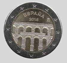 Spain 2016 - 2 Euro Comm - Old Town of Segovia and its Aquaduct (UNC)