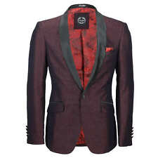 Mens Vintage Floral Damask Tuxedo Suit Dinner Jacket Wedding Party Formal Blazer