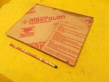 "MAKROLON CLEAR POLYCARBONATE SHEET glazing plastic flat stock 1/2"" x 8"" x 10 1/2"