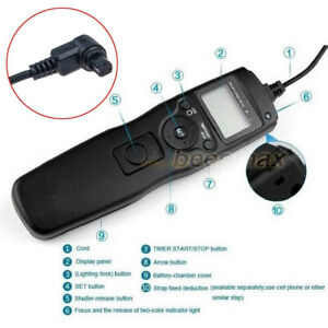 Intervalometer Timer Remote Control for Canon 7D 6D 5D 50D 40D 30D 5D Mark II IV