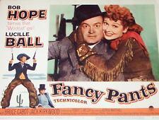 LUCILLE BALL & BOB HOPE - FANCY PANTS LOBBY CARD