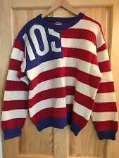 "Vintage MOSCHINO ""Stars & Stripes"" Jumper/ Sweater.....(USA, Flag, Jeremy Scott)"